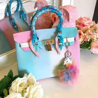 Multicolored Beachkin Matte Bag