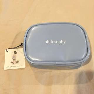 Philosophy Blue Pouch