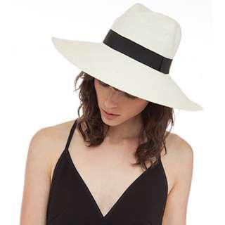 Sarah J Curtis Straw Panama Hat Size 57.7