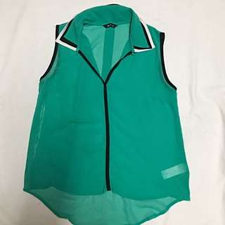 Splash Green Top