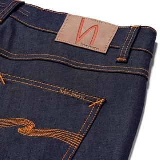 Nudie Lean Dean Slim-Fit Dry Organic Denim Jeans