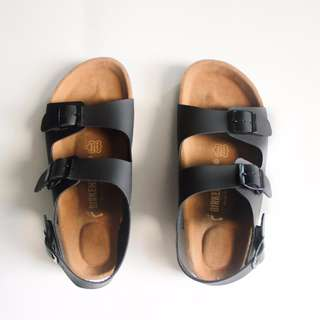 Sandal Birkenstock Milano Premium Black Men