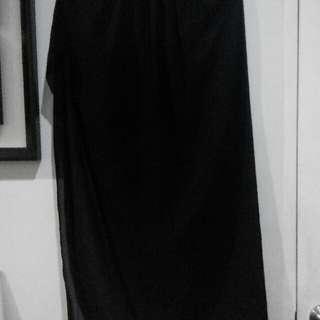 Long Skirt With Slit (1side slit)