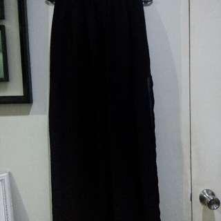 Long Black Skirt (2side slit)