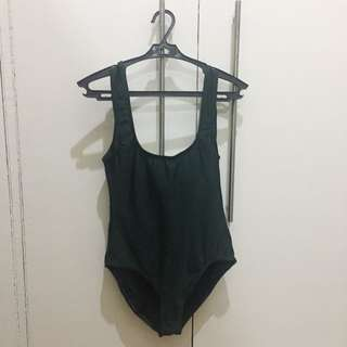 Olive Green Low Back Swimsuit