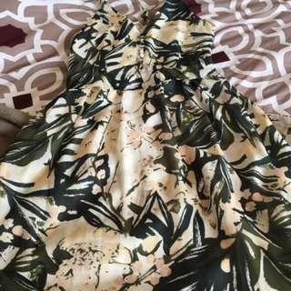Floral Floor Length Sun Dress From H&M