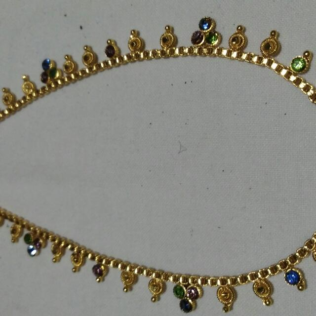 21K  Gold Plated India Anklet