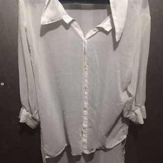 Preloved white polo seethru