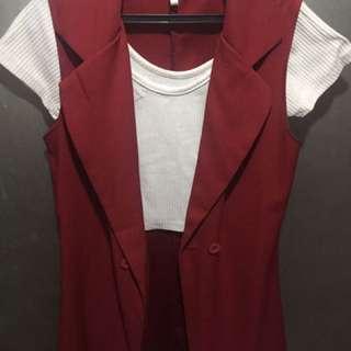 Preloved blazer with inner croptop