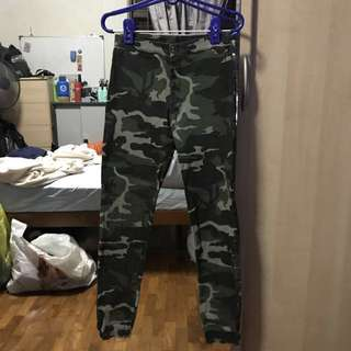 Faded Camo Jeggings