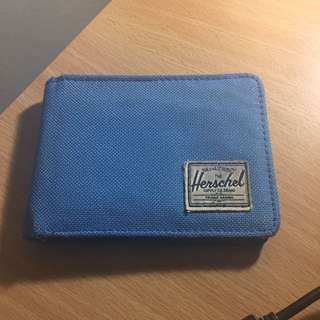 Blue herschel wallet