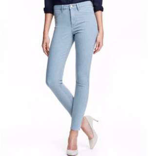 H&M修身牛仔貼身褲