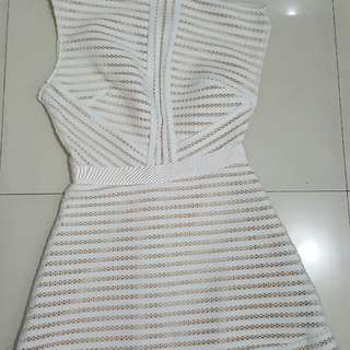 one sided white dress