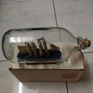 Table Decoration - Ship In The Bottle