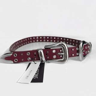 Glassons Red Double Buckle Belt