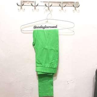 Neon jegging pants
