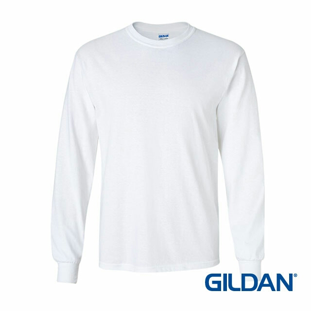 13e22596 2400 Gildan Ultra Cotton Adult Long Sleeve T-Shirt - White 30N, Men's  Fashion, Clothes, Tops on Carousell