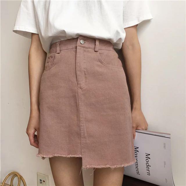 韓國復古顯瘦不規則包臀裙
