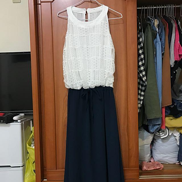 削肩長洋 洋裝