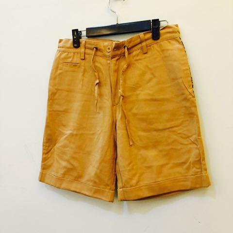 五分 短褲 豹紋口袋