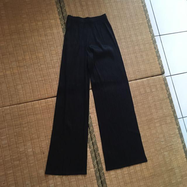 三宅一生 Issey Miyake PLEATS PLEASE 極度相似款 臺灣製 金屬色澤 褶皺長褲