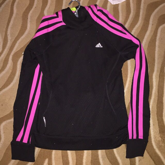 Adidas Jumper Size M Medium Black Pink