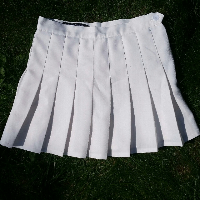 American Apparel Tennis Skirt White