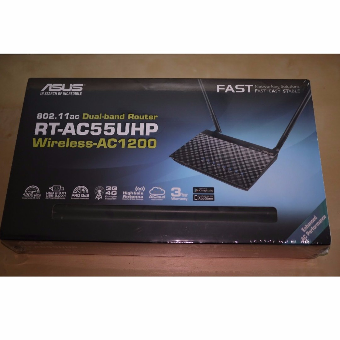 Asus Rt Ac55uhp Wireless Ac1200 Dual Band Router Electronics Ac3200 Tri Gigabit Ac 3200 Mbps Computer Parts Accessories On Carousell
