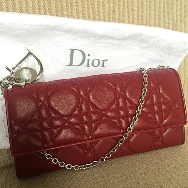 98a49ac1b55 Price slashed! Authentic Brand New Dior Wallet with Chain, Luxury ...