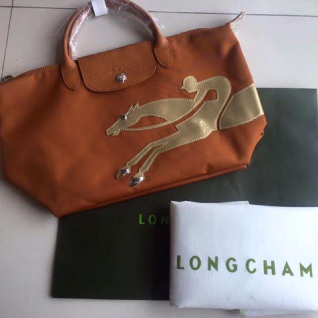 Authentic Longchamp Le Pliage le-year-of-the-horse-satchel