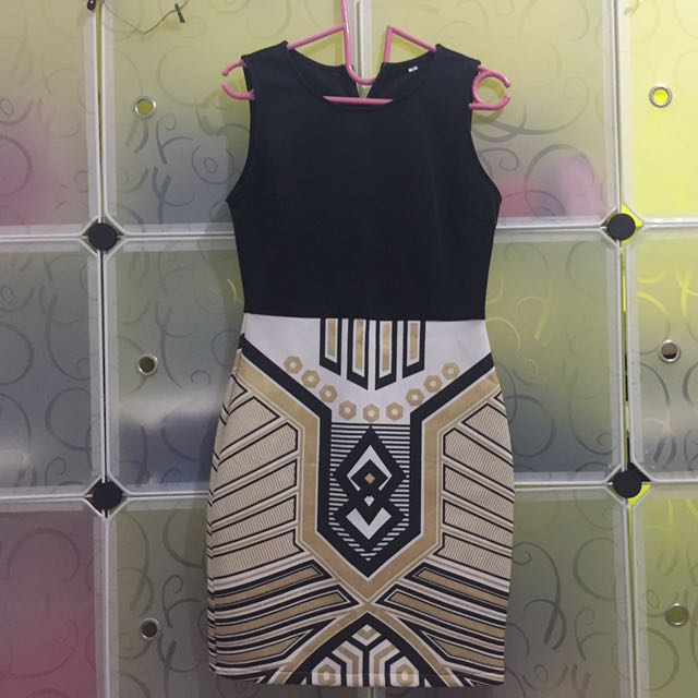 Aztec Gold Dress