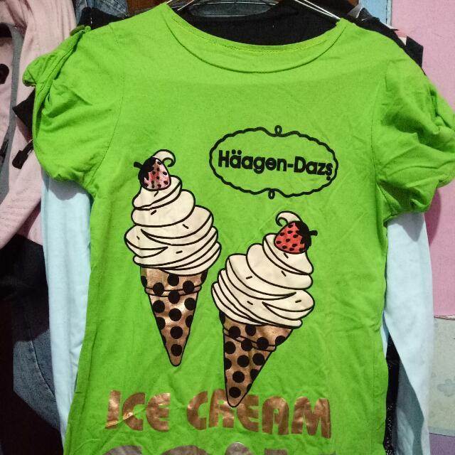 Baju Kaos Ice Cream Haagen-dazs