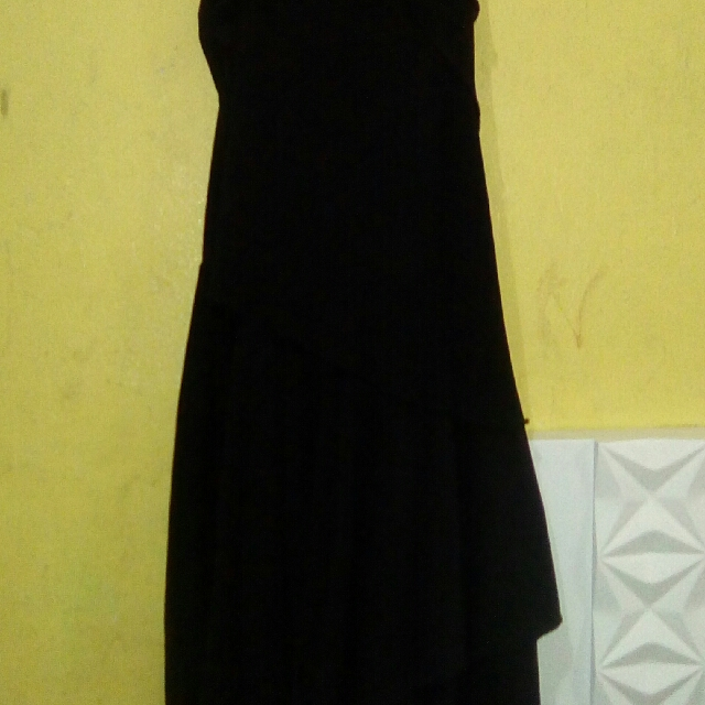 Spaghetti Ballroom Dress Black Medium Size