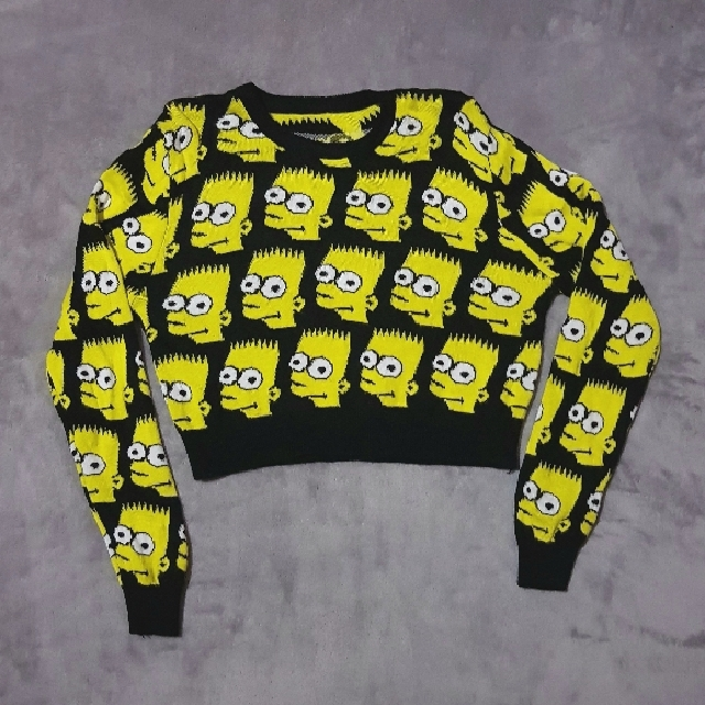 BART SIMPSON CROPPED SWEATER