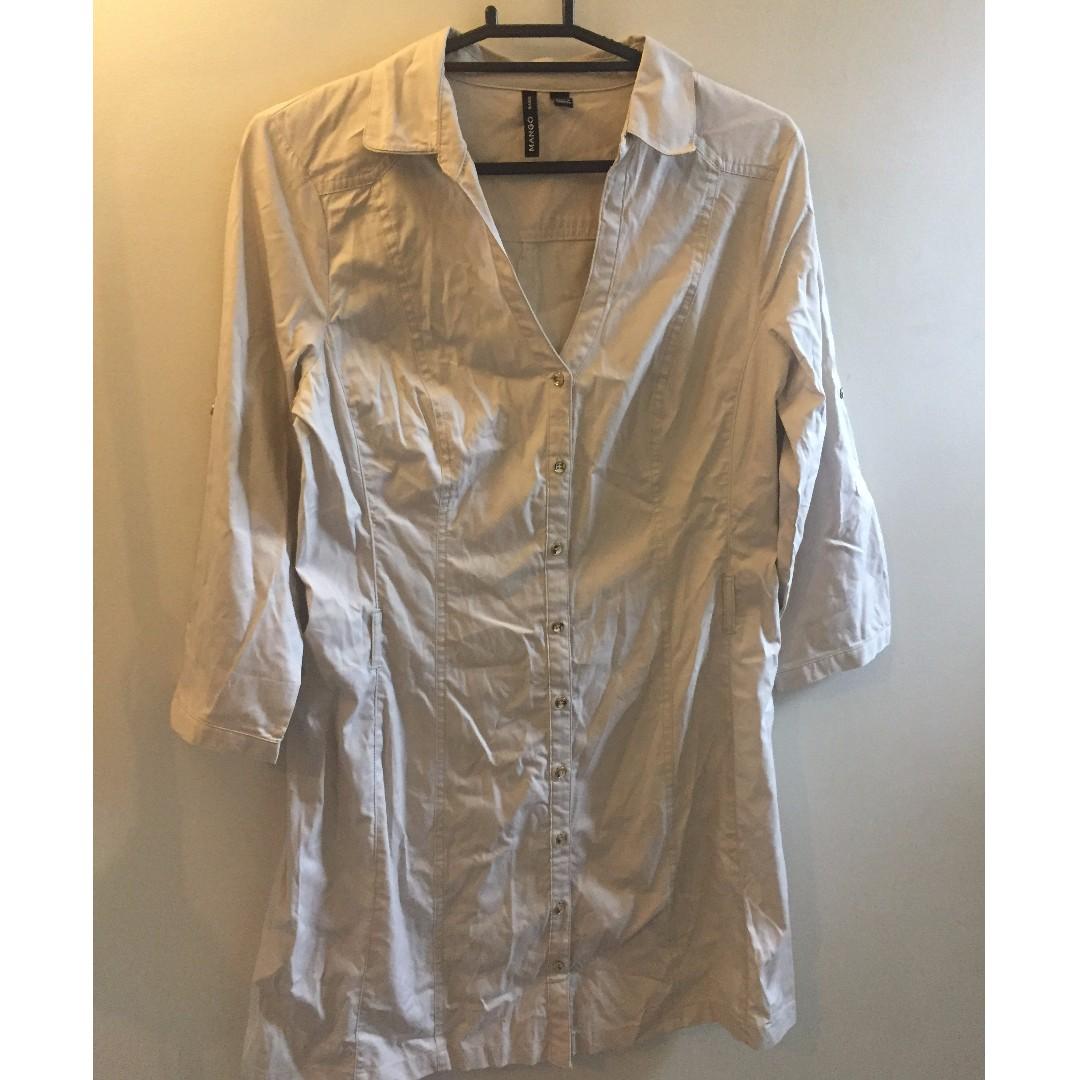 Beige Mango Shirtdress XL