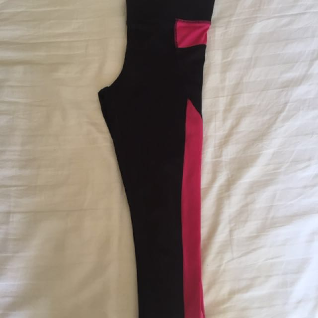 Black And Pink Gym Tights