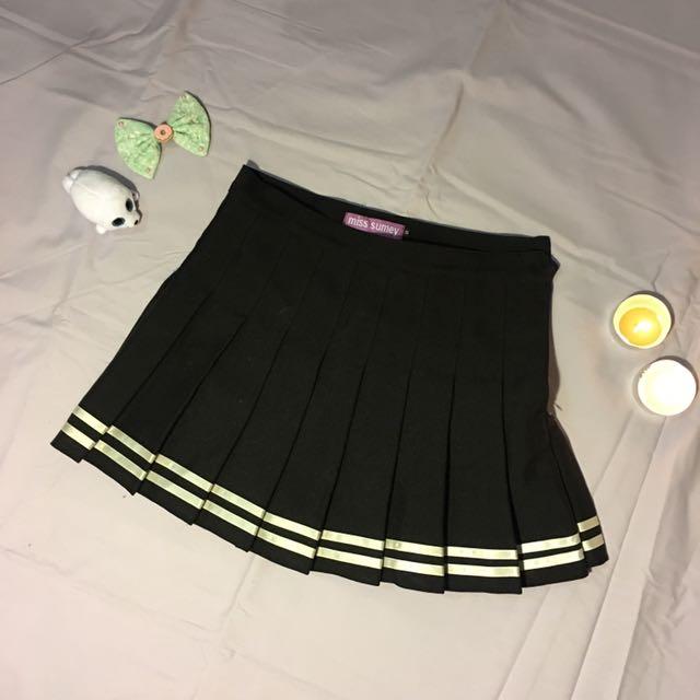 Black And White Tennis Skirt