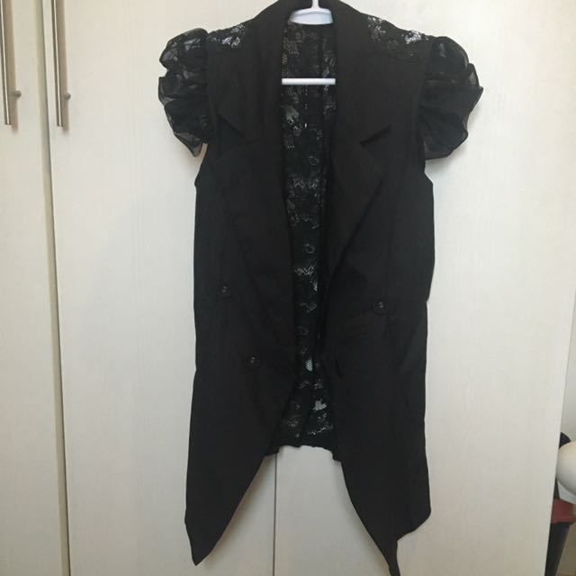Black Laced Blazer