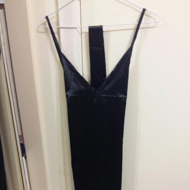 Black Silk Shift Dress