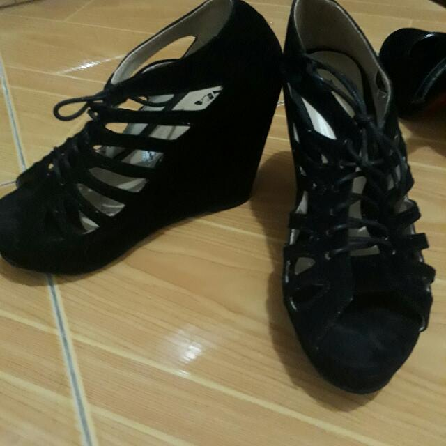 Black Wedge Or High Heels
