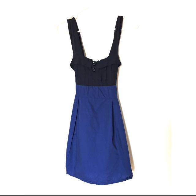 Blue and Black Cute Dress