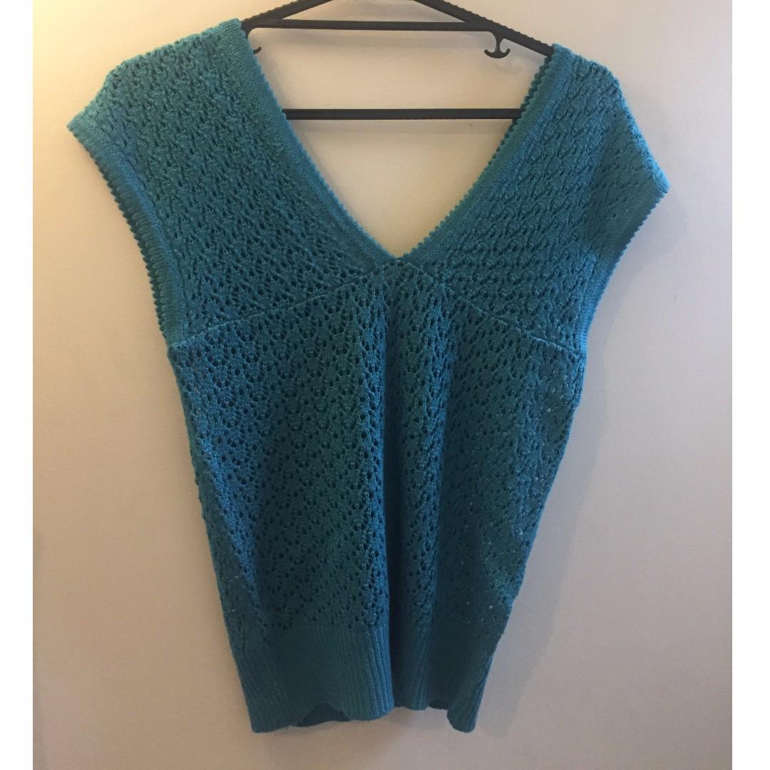 Blue Knit Top M