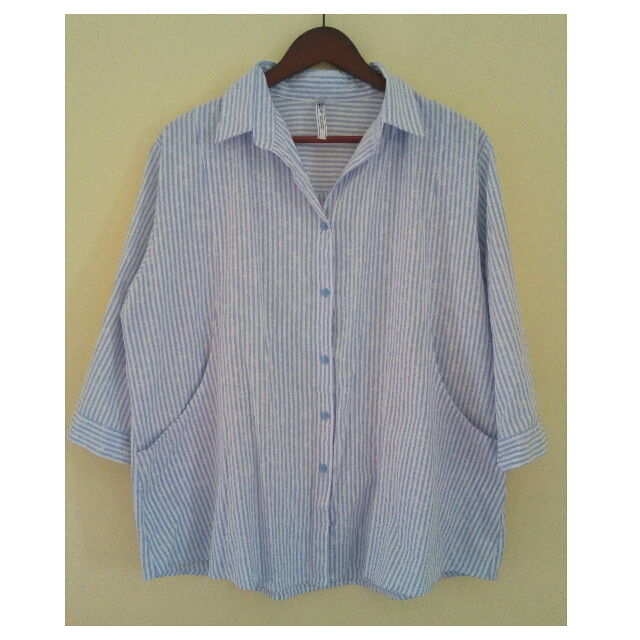 Brand New Plus Size Blouse With Side Pockets 3XL To Semi 4XL