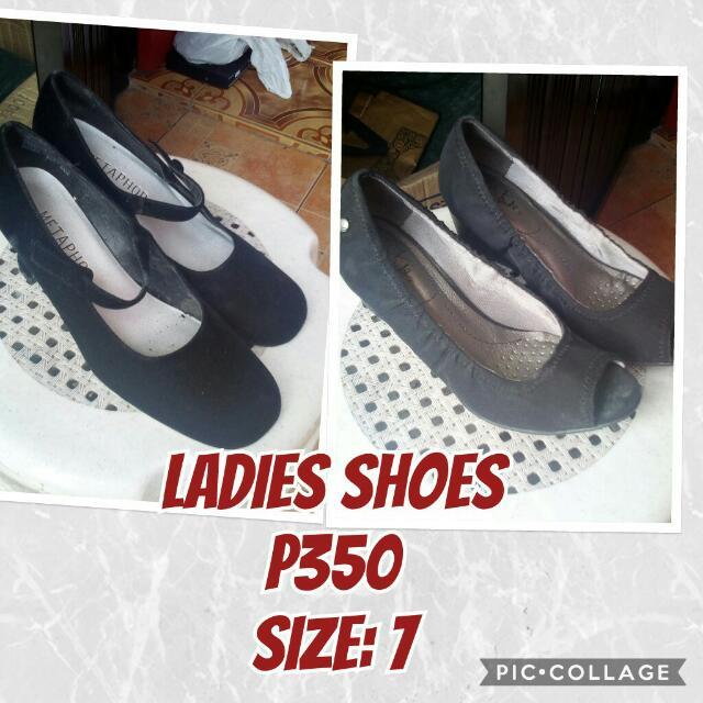 bundled shoes