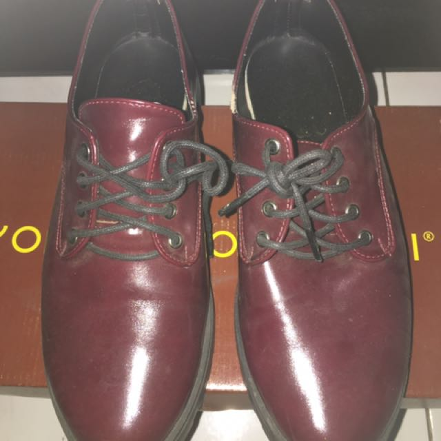 Burgundy Boots Shoes