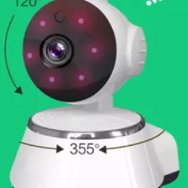 C93WIP iRoyal V380 Wireless IP Camera WIFI Unique IR Night Vision, 2 Way  Talk, Record Voice n Video, Selfie WIFI, Gestures Password  Local Stocks n