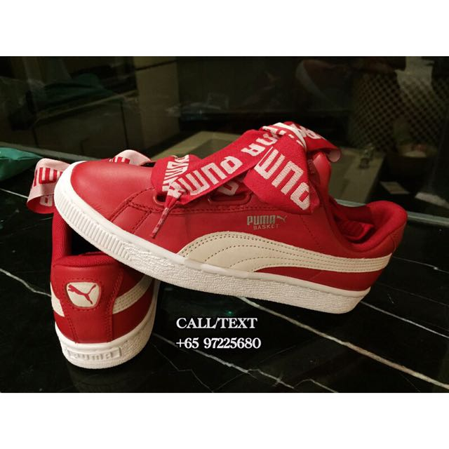 hot sale online 2d7b6 ea788 CARA DELEVINGNE X PUMA BASKET HEART SNEAKER RED READY STOCK ...