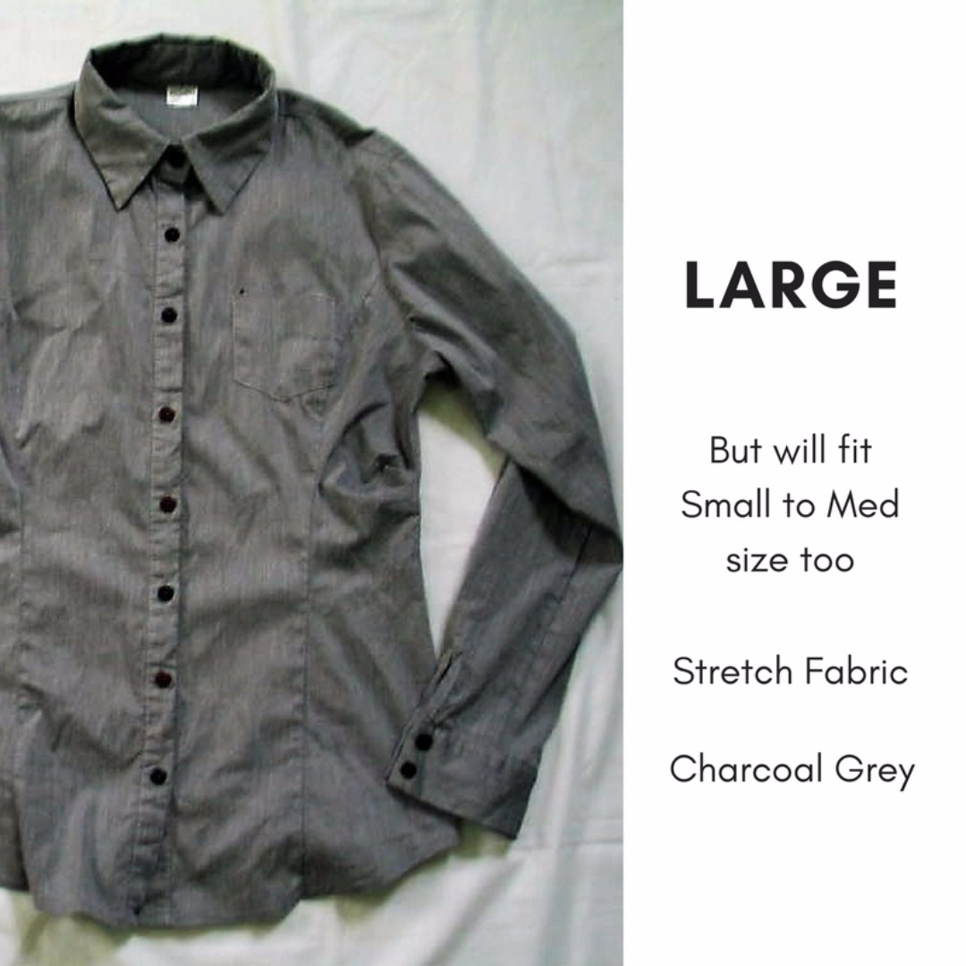 Charcoal Grey Button Down Shirt