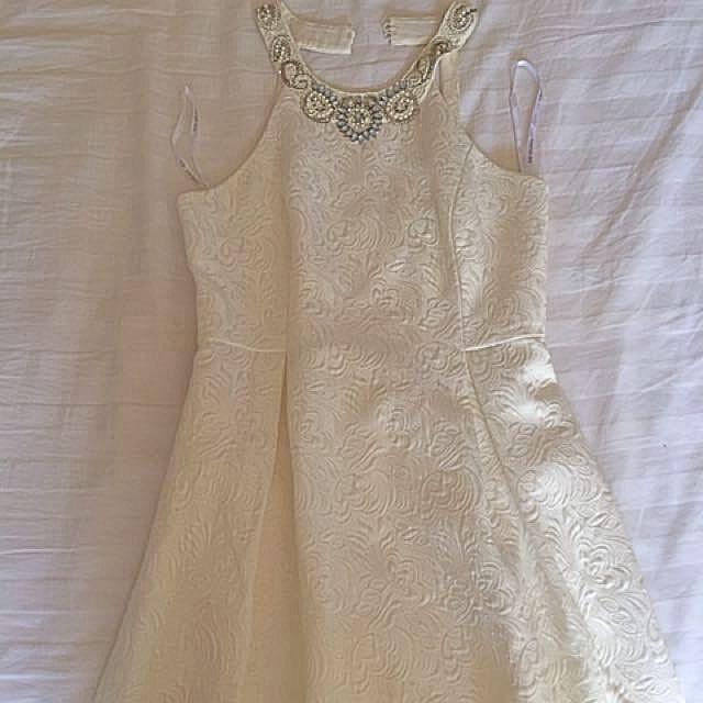 Cream Forever New Dress