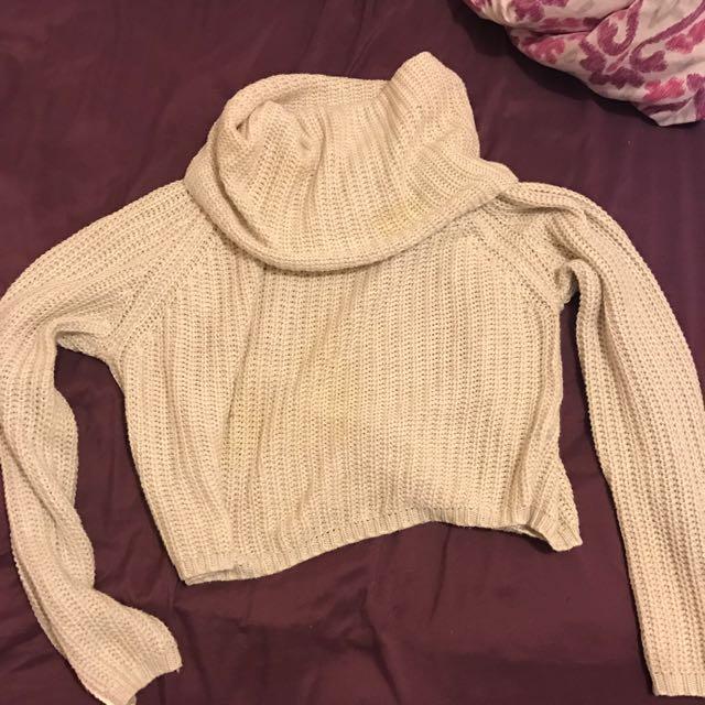 Crop Turtleneck Knit